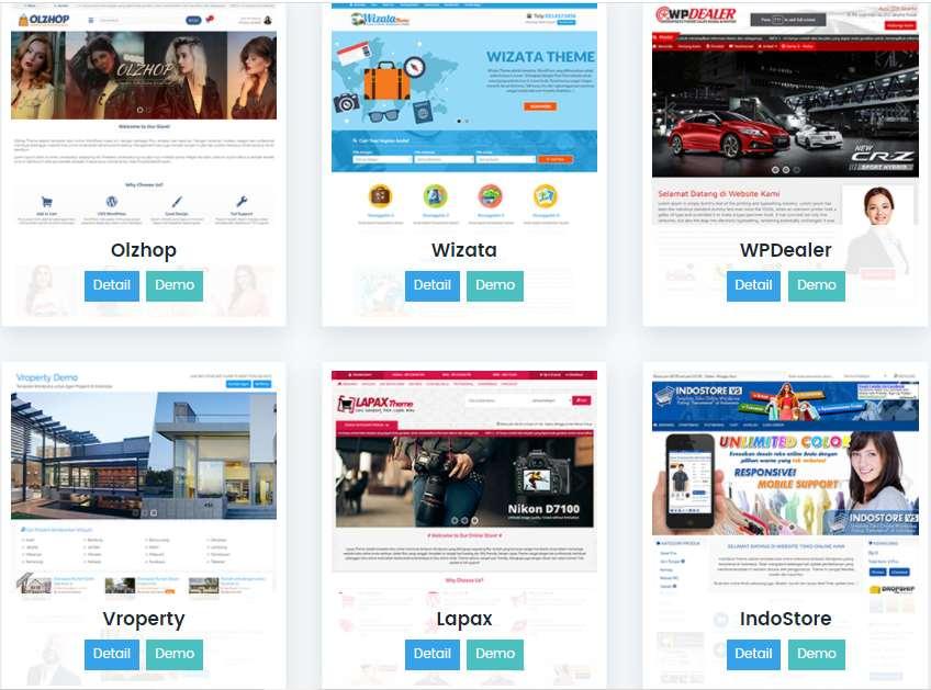template theme wordpress premium berkualitas terbaik untuk website blog toko online landing page untuk usaha bisnis