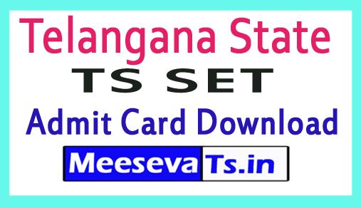 TS SET Admit card | Telangana SET Hall Ticket Download