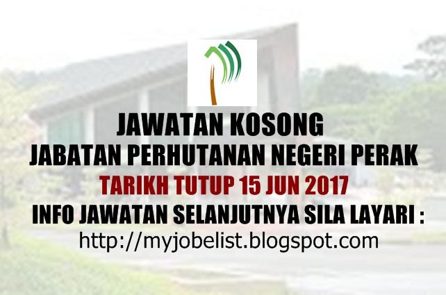 Jawatan Kosong Jabatan Perhutanan Negeri Perak Jun 2017