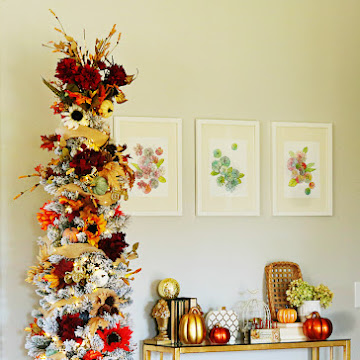 How to Style a Fall Harvest Tree