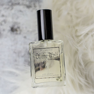 Of the Wolf | Indie Perfume by Wylde Ivy | Werewolf Inspired Halloween Collection | Molton amber, smoked vanilla, dried tobacco leaf, aged cedar, black pepper, fir needles, balsam wood smoke, and dried moss.