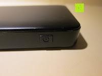 Power Knopf: Swees® 3200mAh Ultra-kompakt Externer Akku Smart-USB (Smartport für maximale Ladegeschwindigkeit) Powerbank Power Bank Ladegerät Powerpack Zusatzakku für iPhone 6 Plus 5S 5C 5, Samsung Galaxy S3 S4 S5 S6, Note 3 4, Tab 4 3 2 Pro, Nexus, HTC One, One 2 (M8), LG G3 und andere Smartphones MP3 MP4 Player - Schwarz