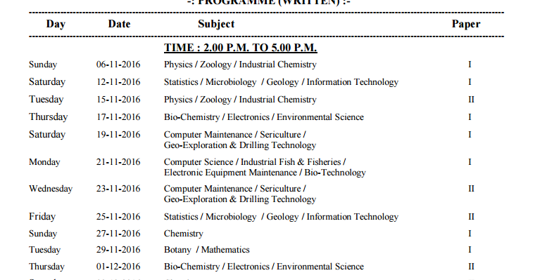 bsc 5th sem time table exam date winter 2016 nagpur university