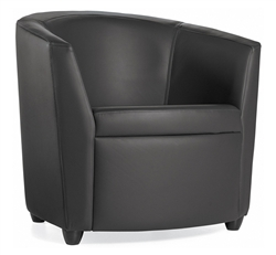 Curved Back Lounge Chair