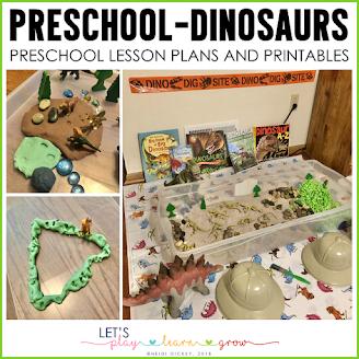 Dinosaur Themed Preschool Activities