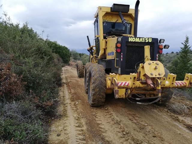 Ναύπλιο: Άνοιγμα και καθαρισμός αγροτικών δρόμων στο Παναρίτη