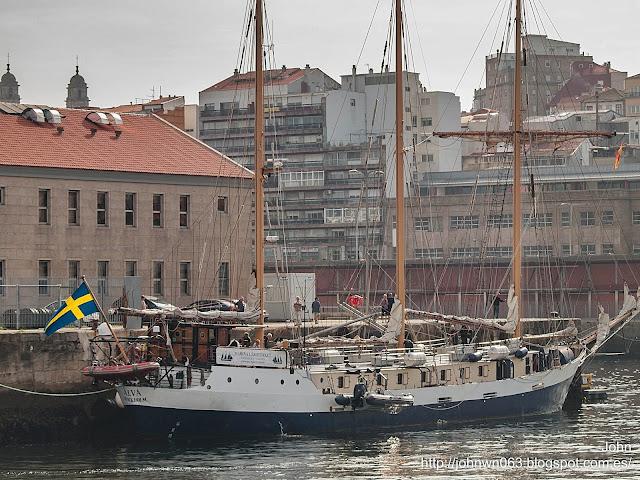 fotos de barcos, imagenes de barcos, alva, goleta, buque escuela, Vigo