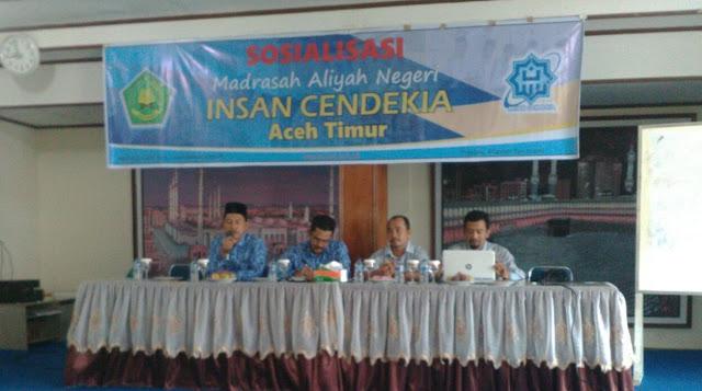 Sosialisasi MAN Insan Cendekia Aceh Timur