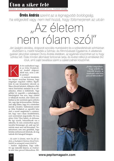 Ötvös András a Pepita Magazinban