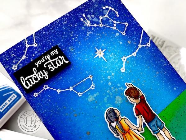 Cardbomb, Maria Willis, Hero Arts,Pear Blossom Press,stamps, stamping, cards, cardmaking, ink, inkblending, paper, papercrafting, art, diy, handmade, light-up card, EZ-lights, stars, interactive card
