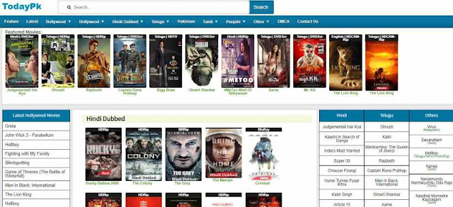 Todaypk Hollywood Dubbed in Hindi, Bollywood Movies Download & New Domain Link