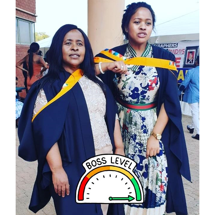 Mom(56) and daughter(30) graduated on the same day with our Master's degrees 🎓🎓🎓