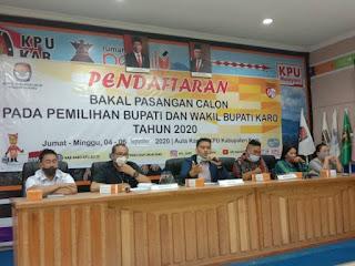 KPUD Karo Tetapkan 5 Paslon Ikuti Pilkada 2020