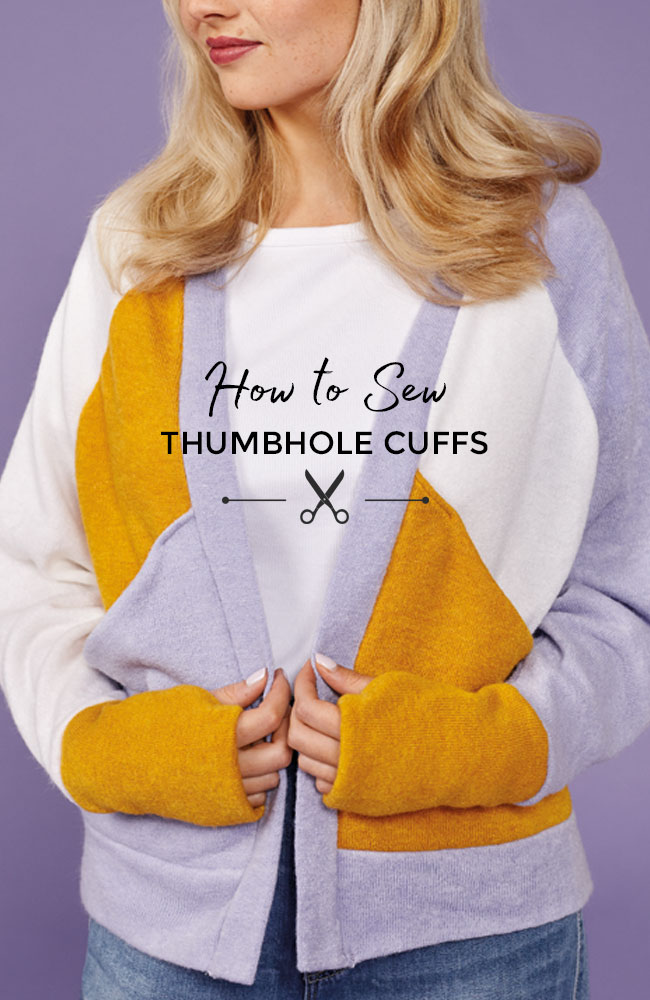 How to sew thumbhole cuffs - Tilly and the Buttons