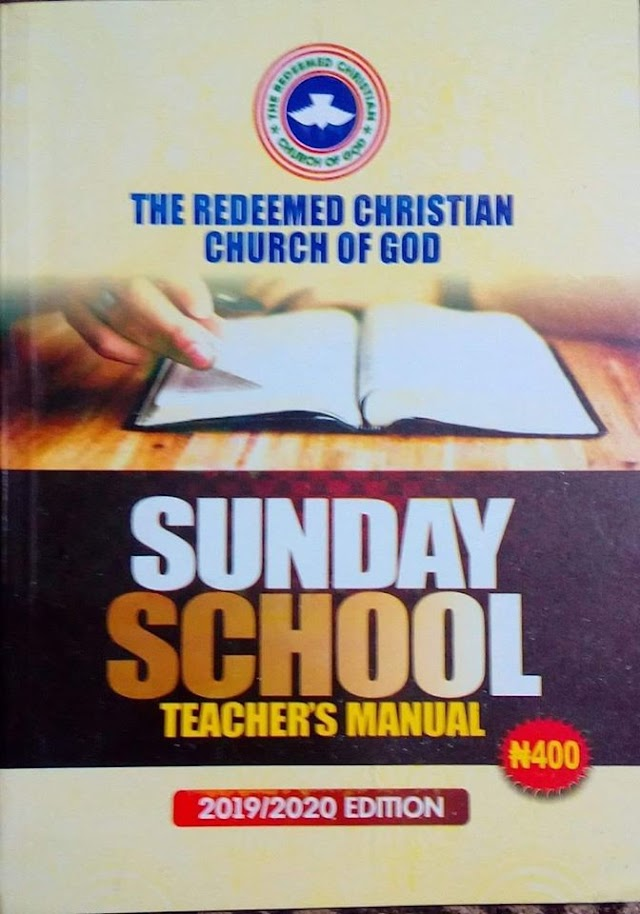 24 May 2020 RCCG SUNDAY SCHOOL TEACHER'S MANUAL