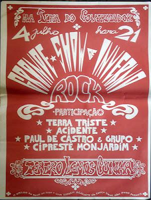 Cartaz de show no Teatro Lemos Cunha em 1981