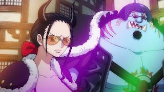 ワンピースアニメ 992話 ワノ国編   ONE PIECE ニコロビン ジンベエ