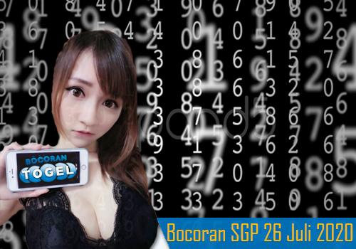 Bocoran Togel SGP 26 Juli 2020