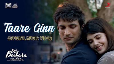 Dil Bechara Taare Ginn Lyrics -  Mohit Chauhan & Shreya Ghoshal