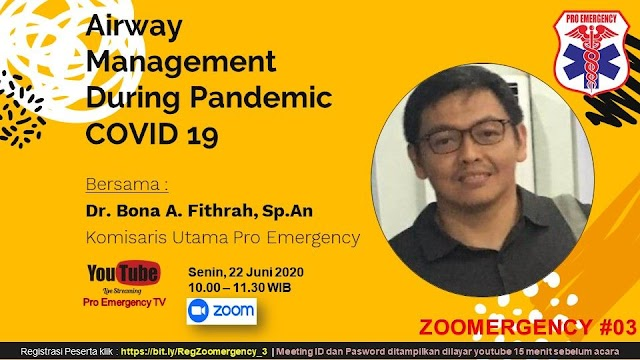 "Free Webinar: ""Airway Management During Pandemic COVID-19"" Senin, 22 Juni 2020 (10.00-11.30 WIB)"