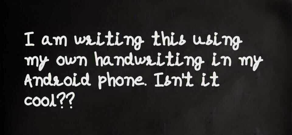 My Own Handwriting