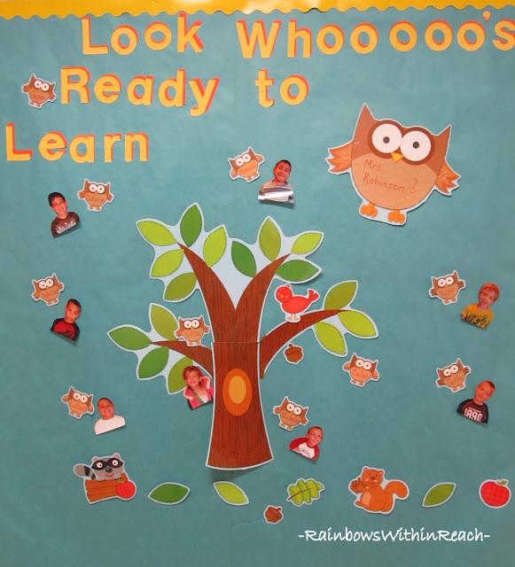 photo of: Owl Theme Bulletin Board: Whooooooo's Ready to Learn?