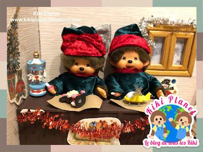 kiki monchhichi sanra claus elves christmas noël lutins tales contes cute