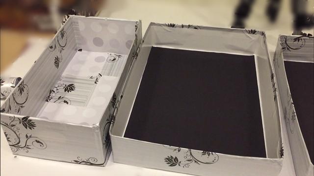 caixa de papel organizadora