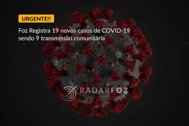 Alerta vemelho! Foz registra 9 casos por transmissão comunitária de COVID-19 - Prefeitura pode decretar lockdown a qualquer momento.
