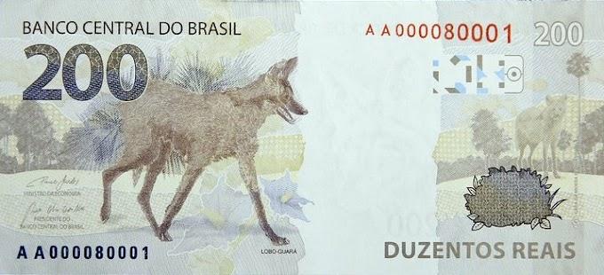 Banco Central lança nota de R$ 200, com imagem de um lobo-guará