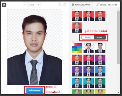 Cara Mudah Mengganti Warna Background Pas Foto