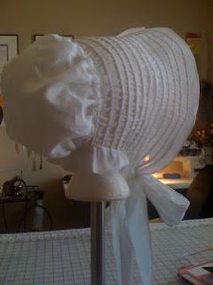 drawn bonnet diy tutorial regency hat