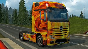 Man Fire skin for Mercedes MP4
