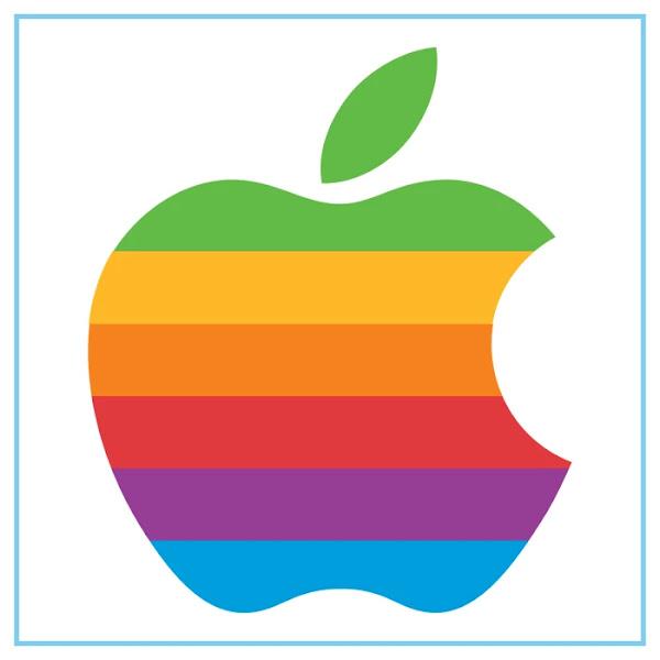 Apple Logo (1977–1998) - Free Download File Vector CDR AI EPS PDF PNG SVG