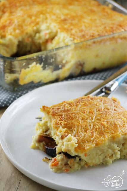 Hachis Parmentier Boudin Blanc Pommes de terre Carottes Oignons Recette Facile Rapide