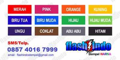 Tersedia 12 pilihan tinta warna stempel termurah