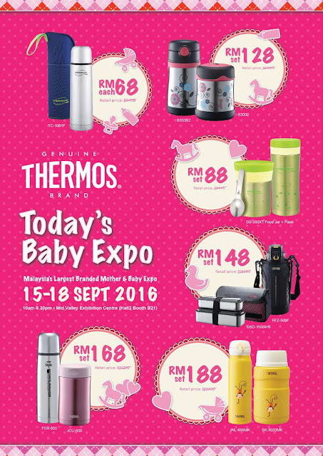 Today Baby Expo 2016 Thermos Discount Promotion Offers