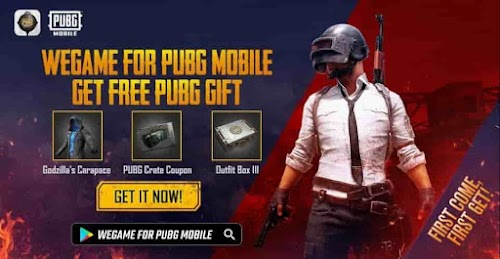 PUBG Mobile Free Godzilla Outfit and Crate coupon-Official Wegame App