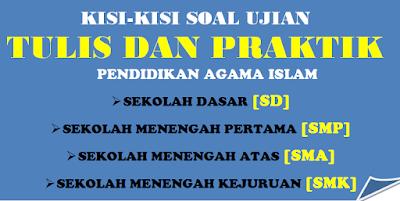 Kisi - Kisi Ujian Praktek dan Tertulis Pendidikan Agama Islam SD, SMP, SMA/SMK Kurikulum 2013