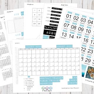 August 2020 Bullet Journal / Planner Free Printable Stickers!
