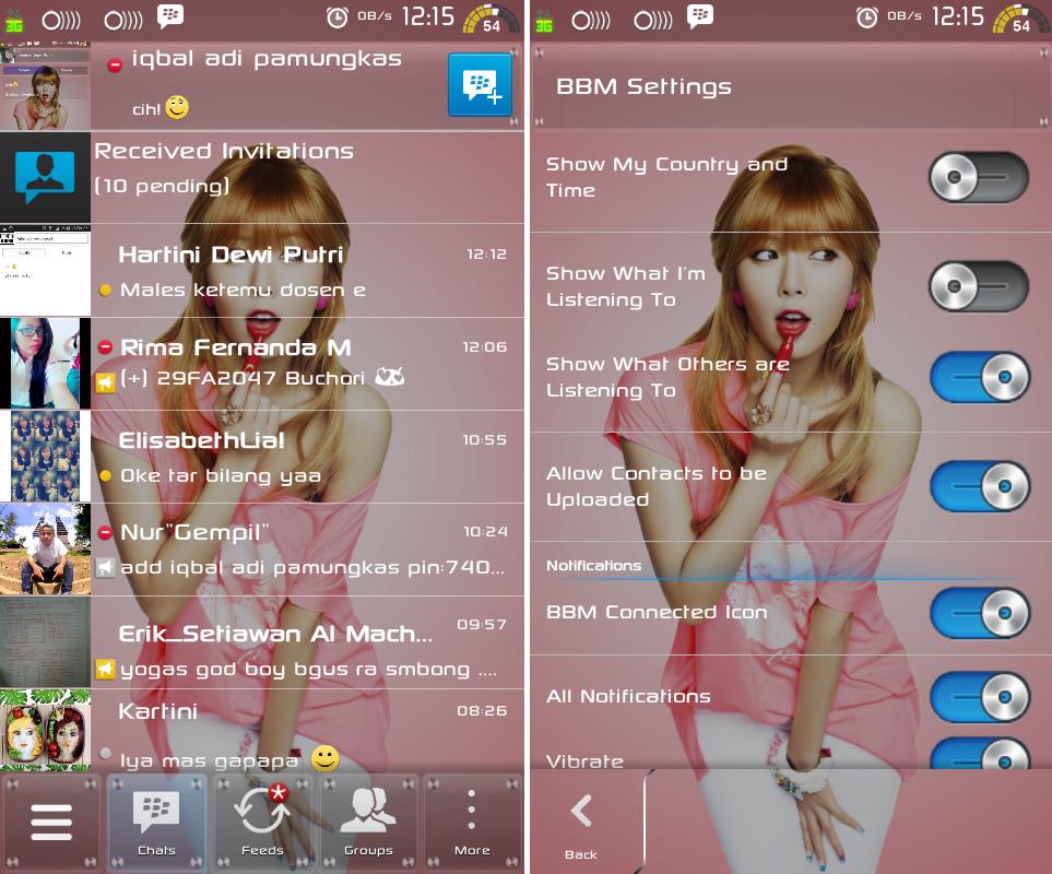 BBM Android Mod Transparan