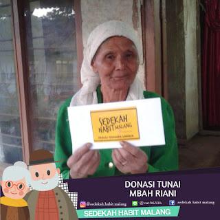 Mbah Riani : Donasi Tunai
