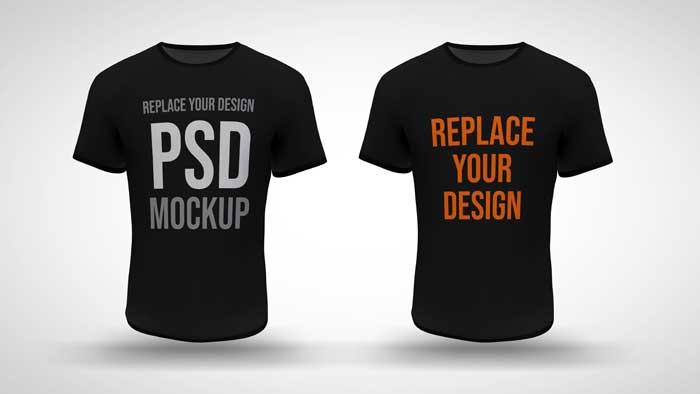 T-Shirt 3D PSD Mockup
