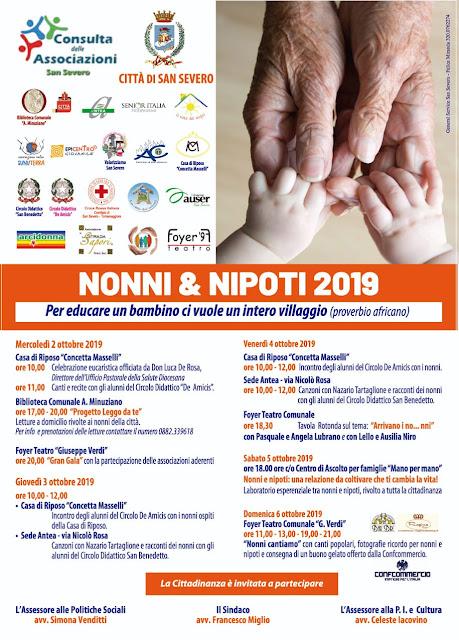 """""""Nonni & Nipoti"""" a San Severo con la Consulta delle Associazioni"""