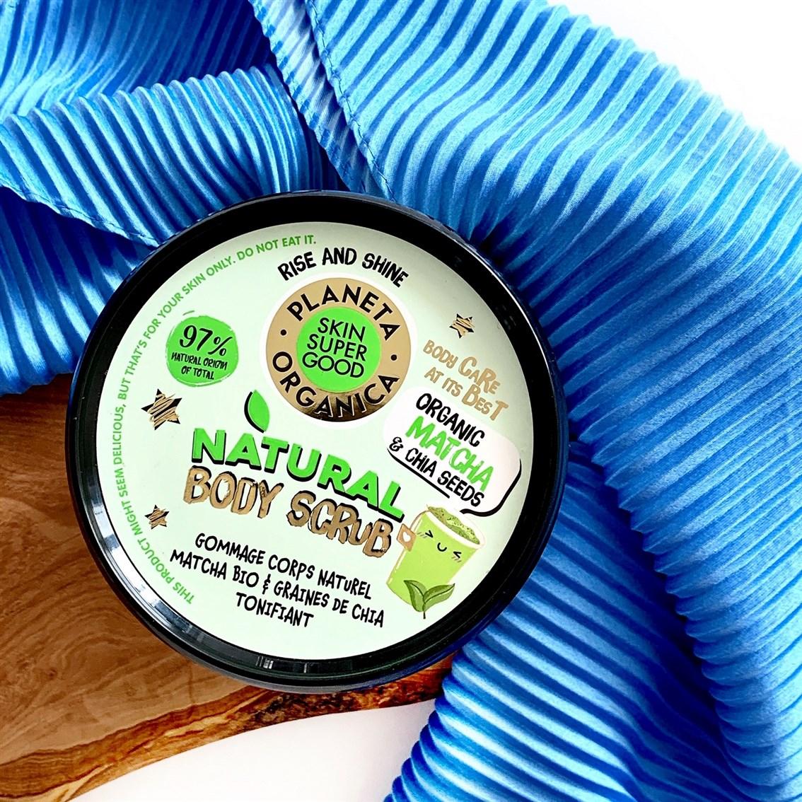 Planeta Organica Skin Super Good Organic Matcha & Chia Seeds orzeźwiający scrub do ciała