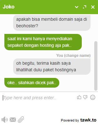 beohoster web hosting berkualitas