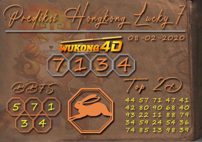 Prediksi Togel HONGKONG LUCKY 7 WUKONG4D 08 FEBRUARI 2020