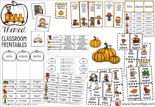 Fall Themed Classroom Worksheets