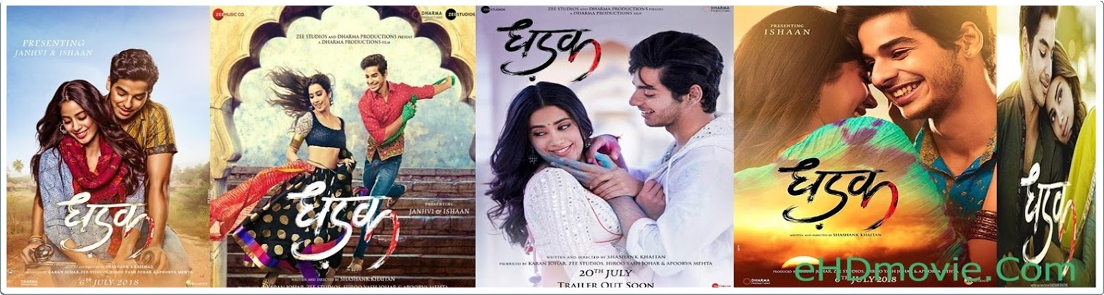 Dhadak 2018 Full Movie Hindi 1080p - 720p - HEVC - 480p ORG WEB-DL 400MB - 650MB - 1.1GB - 2GB ESubs Free Download