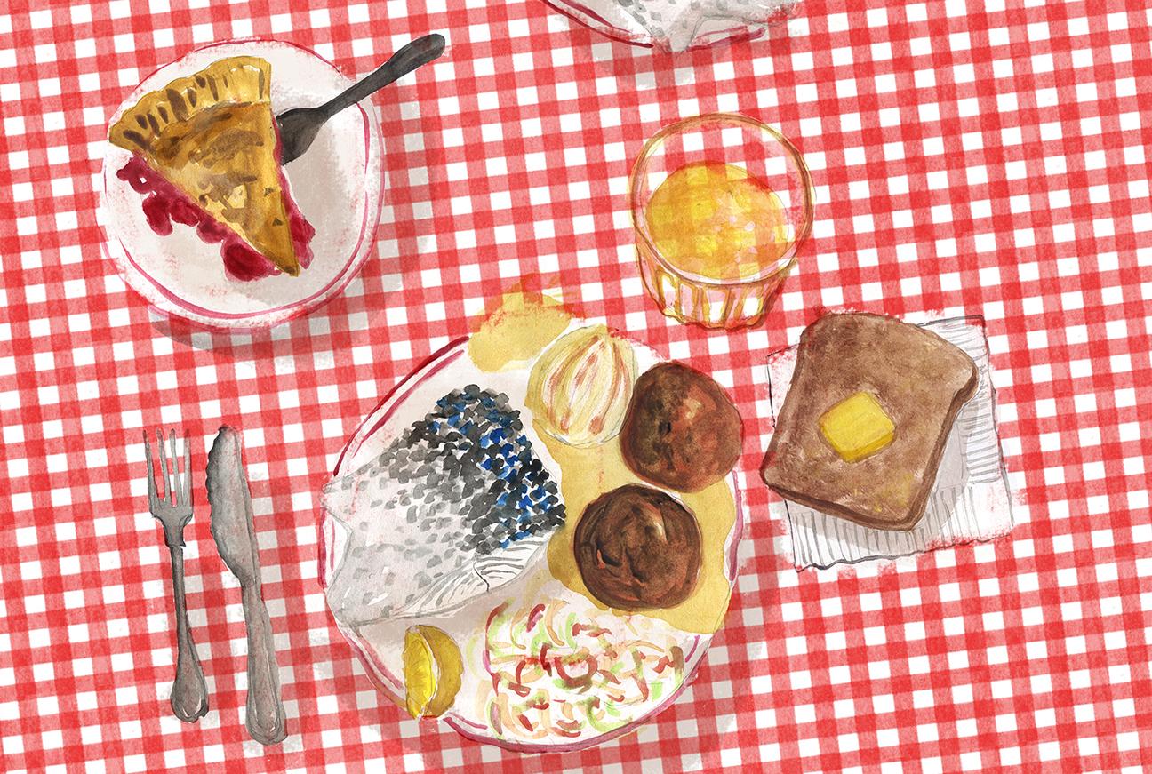 Door County Fish Boil, Summer, Whitefish, potato, onion, Minty's Table, Lauren Monaco Illustration